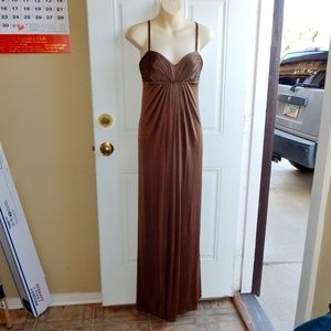 BCBGMAXAZRIA Ruched Front Bodice Gown SIZE XS